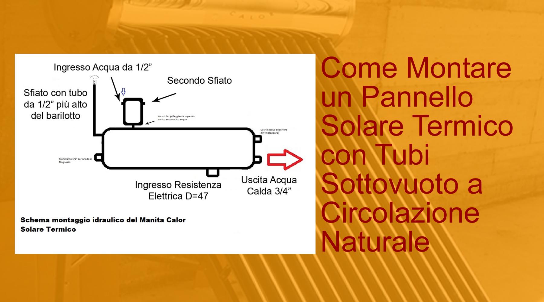 Pannelli Solari Termici Da Balcone come montare un pannello solare termico con tubi sottovuoto